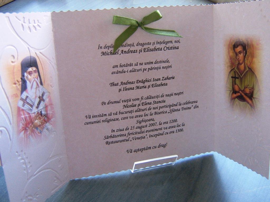 Christian Wedding Invitations Invitatii Pentru O Nunta Crestina