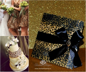 Animal print wedding